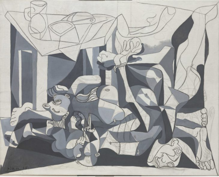 Pablo Picasso, peinture Le charnier