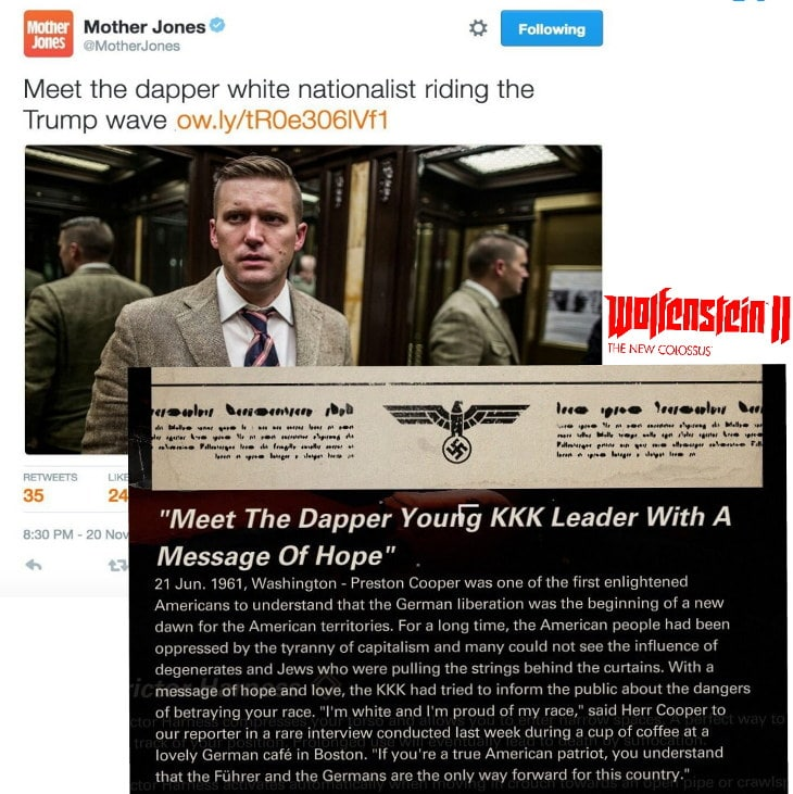 Richard Spencer nazi Wolfenstein