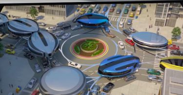 transport gyroscopique futuriste