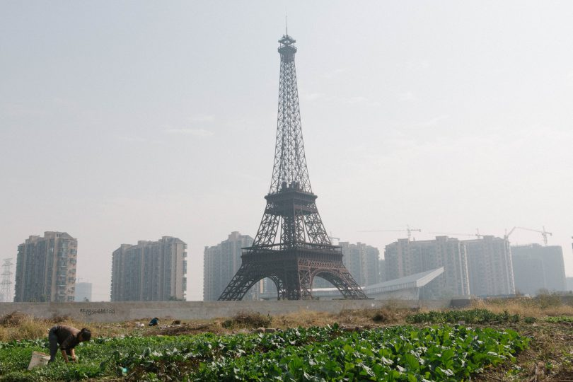 Fausse tour eiffel Chine