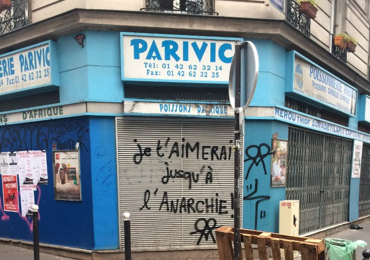 graffiti amour anarchie paris