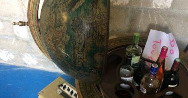 globe terrestre bar intérieur