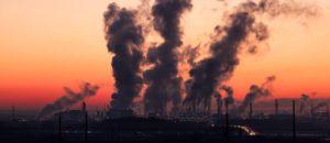 Smog de pollution industrielle