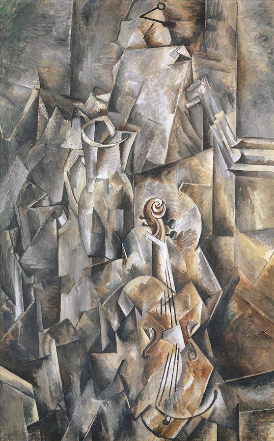 Braque Broc Violon Cubisme