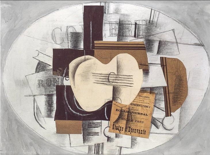Guitare statue épouvante Braque