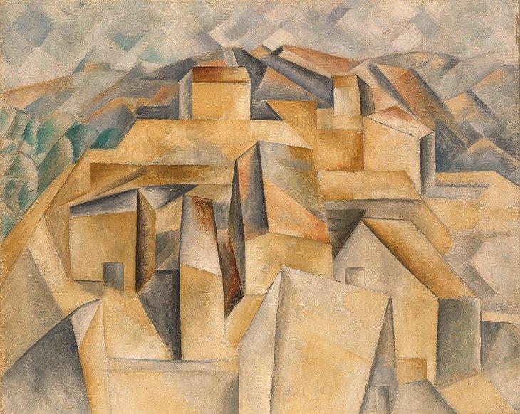 Maisons Collines Picasso Cubisme