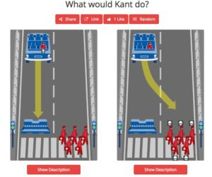 Machine Moral scénario Kant