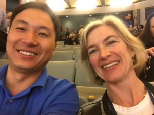 Selfie He Jiankui avec Jennifer Doudna