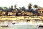 Architecture Dayak île de Bornéo