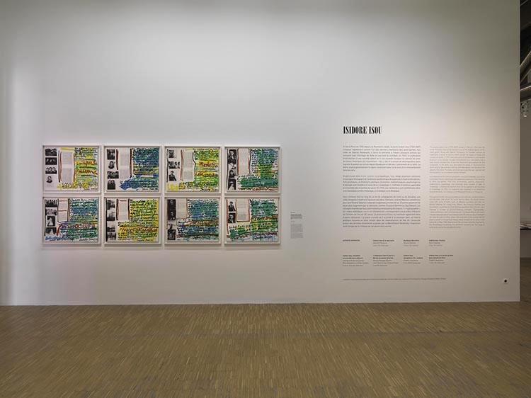Isidore Isou Centre Pompidou