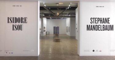 Stéphane Mandelbaum et Isidore Isou Centre Pompidou Philippe Migeat