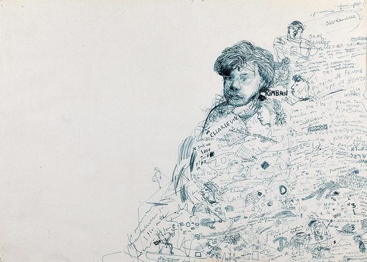 Stéphane Mandelbaum Portrait d'Arthur Rimbaud Centre Pompidou
