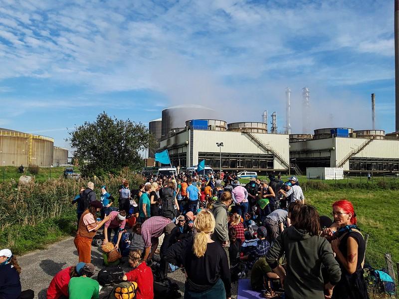 Militants devant usine Yara
