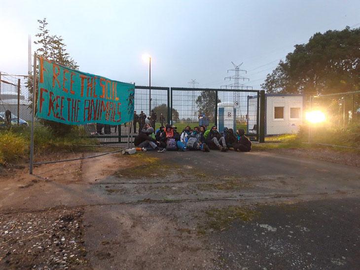 Entrée usine Yara bloquée