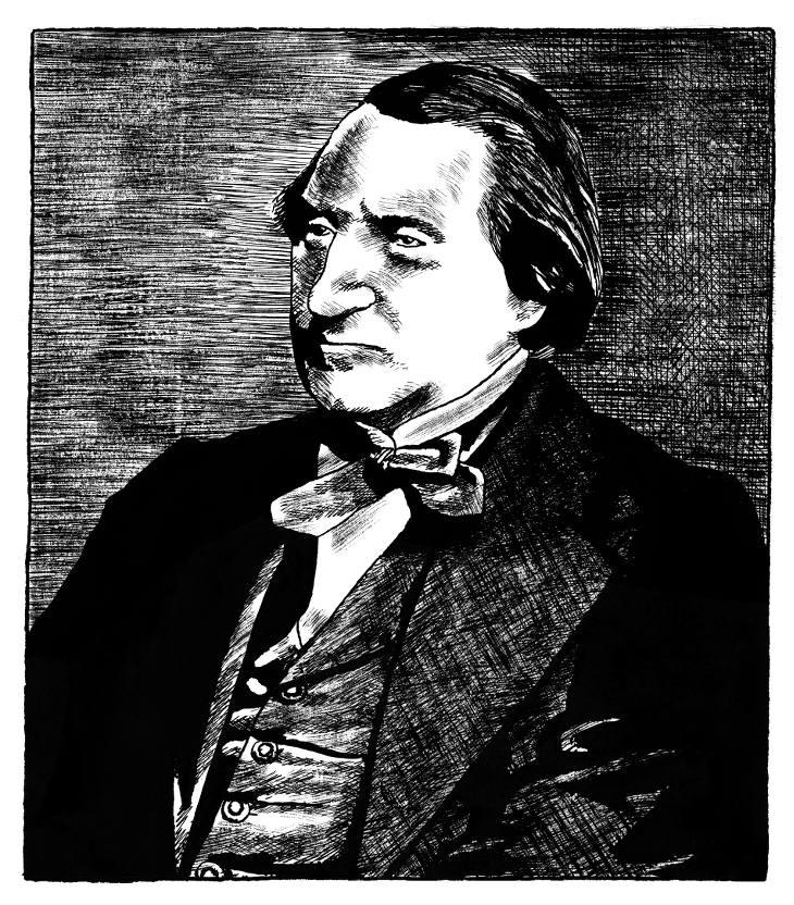 Ernest Renan Portrait Pajak