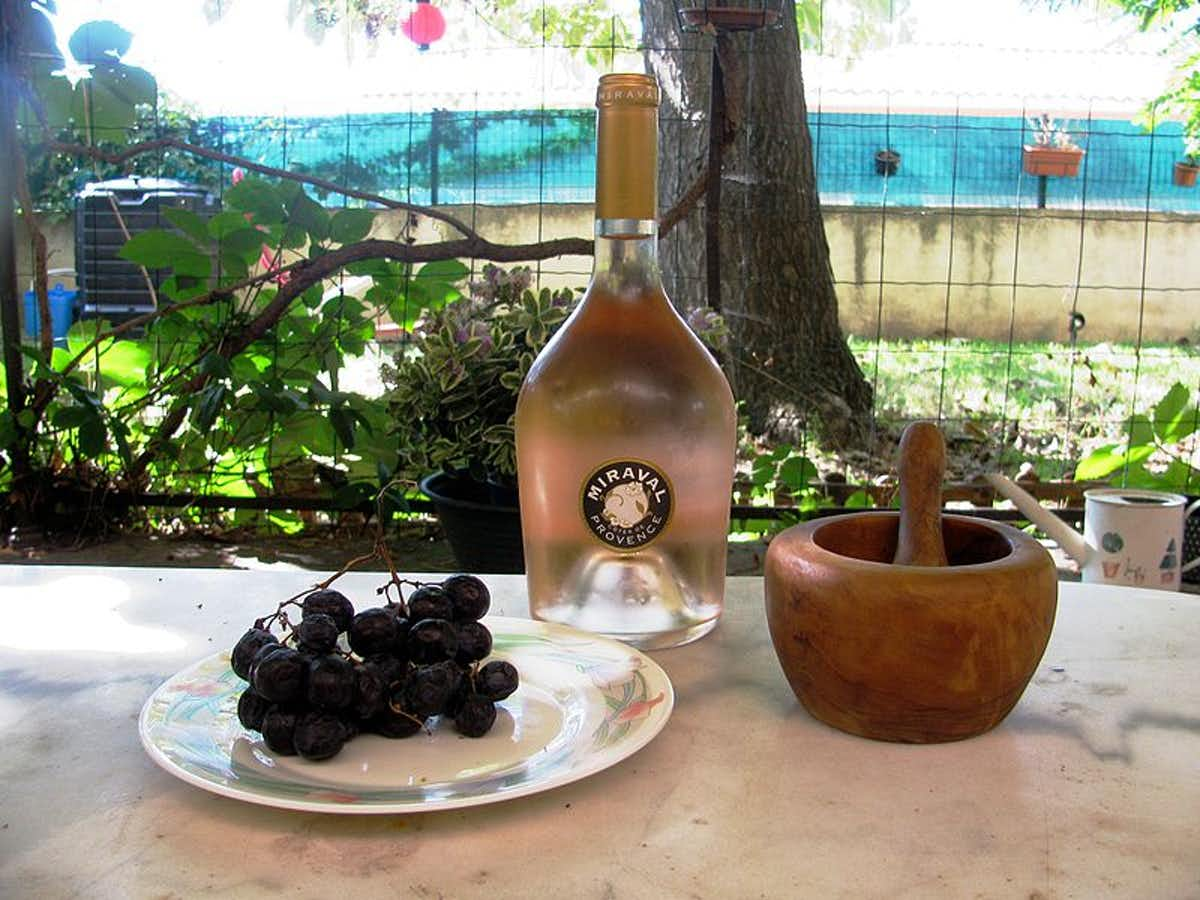 Vin rosé domaine Miraval