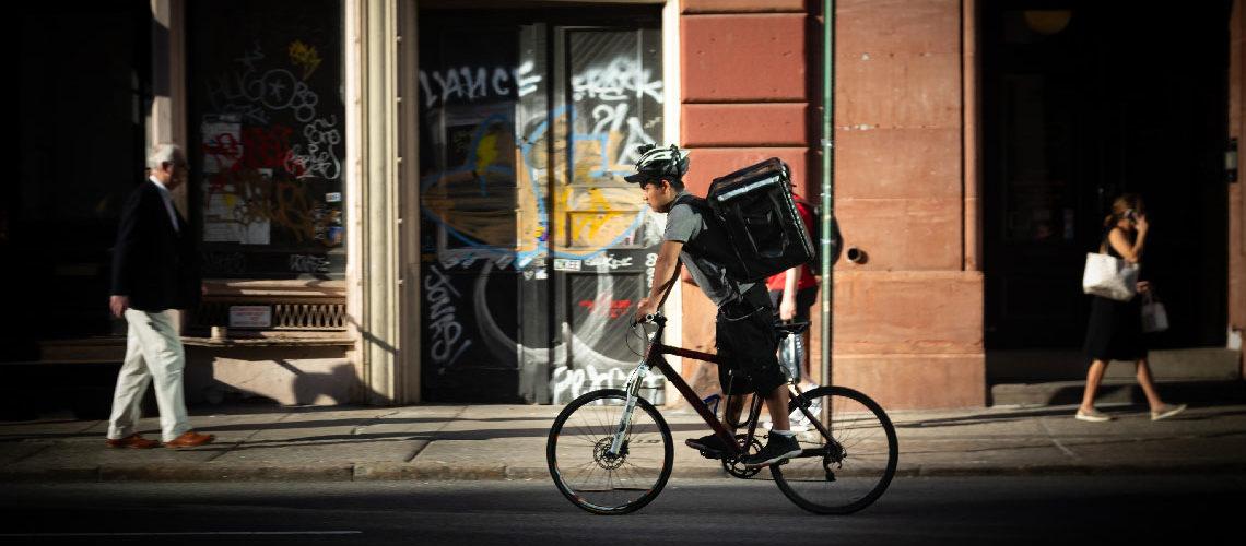livreur à vélo sous-payés