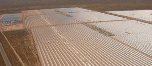 Changement climatique ferme solaire