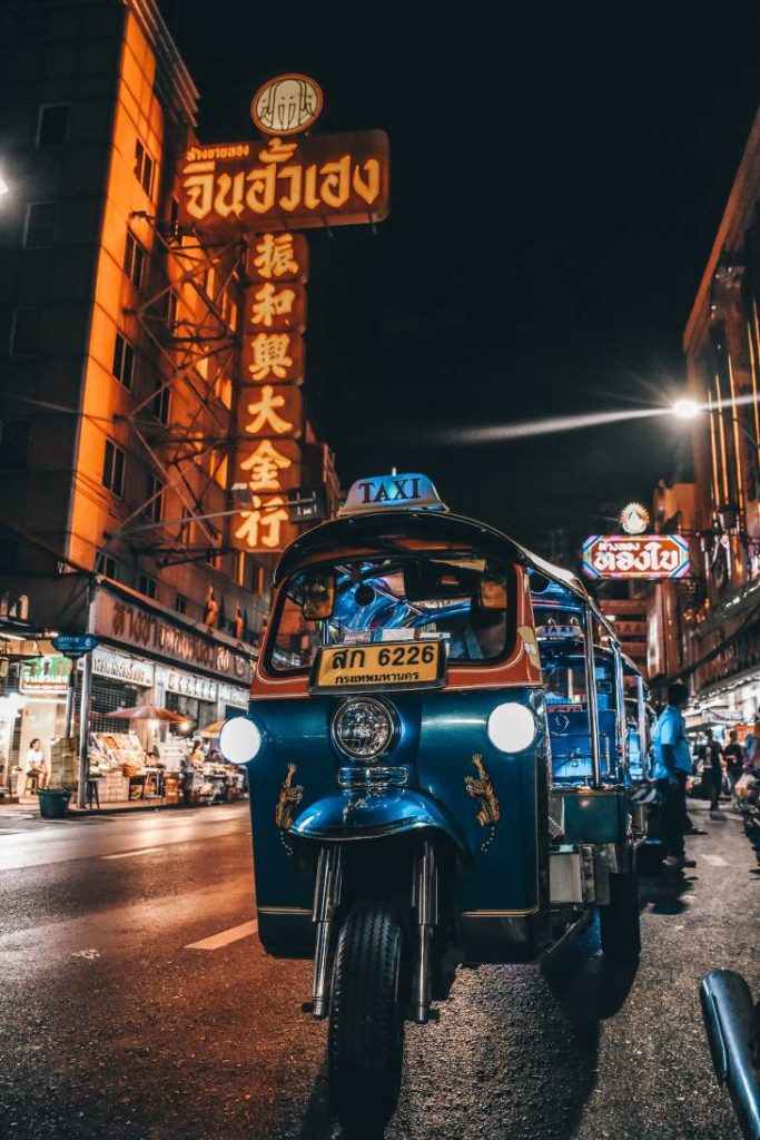 Bangkok street food menacee Rickshaw