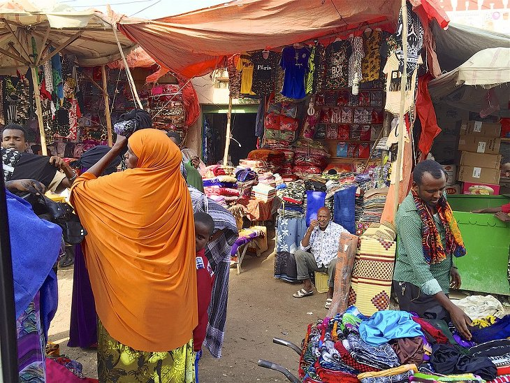 Marché rue Hargeisa Somaliland