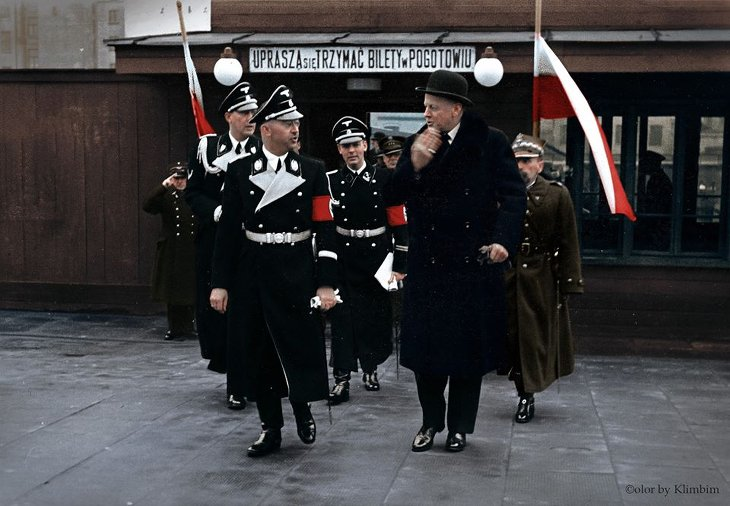 Himmler Pologne photo couleur
