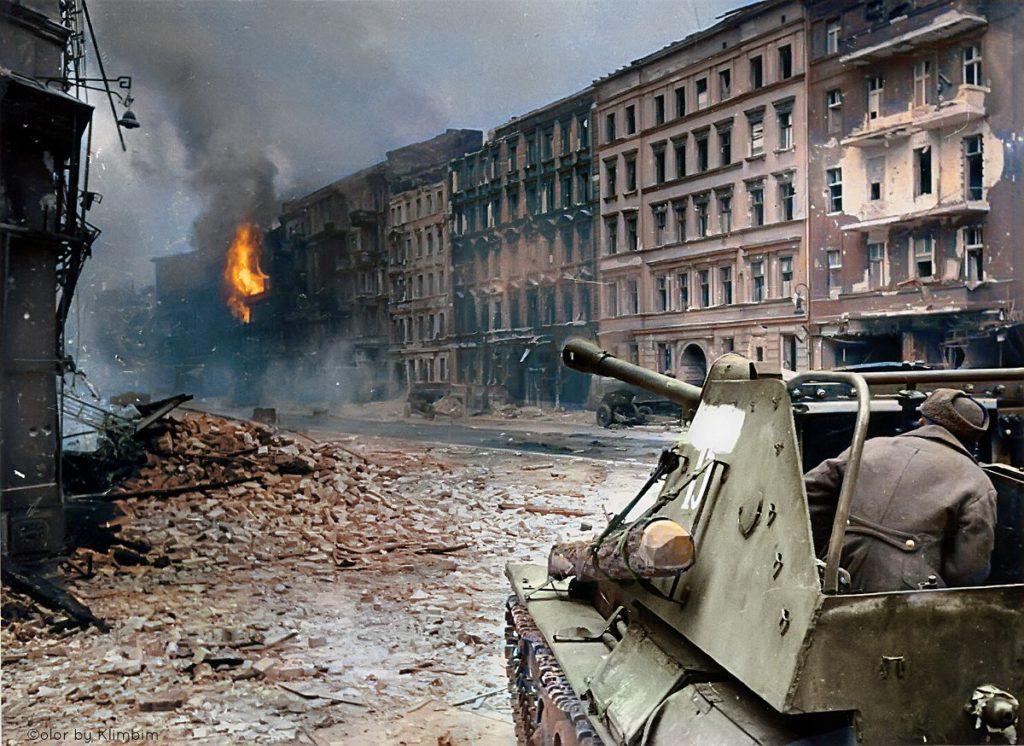 Berlin Guerre Tanks Couleur