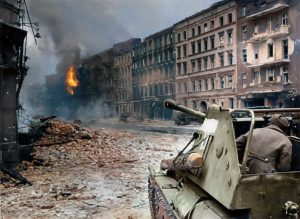Berlin Guerre Tanks Couleur