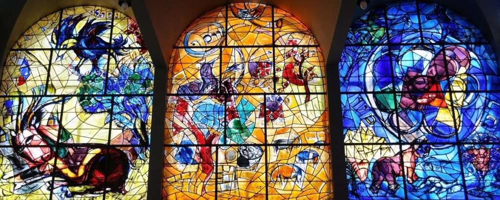 Vitraux synagogue Hadassah Chagall
