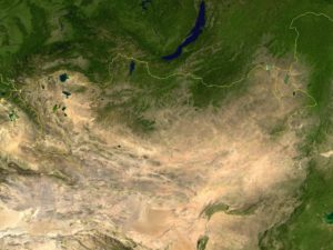 Carte Nasa Mongolie Satellite