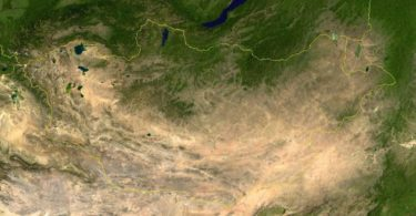 Carte Nasa Mongolie Satellite