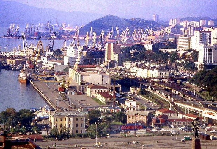 Vladivostock Port Chine Russie